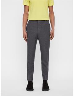 Mens Sasha Drawstring Cashmere Pants Grey Melange