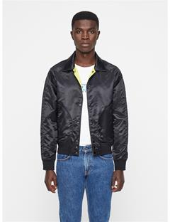 Mens Mane Satin Jacket Black