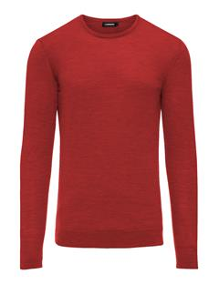 Mens Newman C-neck Perfect Merino Molten Lava
