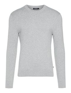 Mens Taylon Micro Crinkled Knit Lt Grey Melange