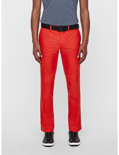 Mens Elof Reg Fit Pants Deep Red