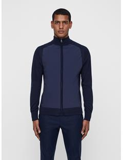 Mens Knitted Hybrid Jacket JL Navy