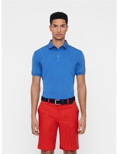 Mens Tour Tech Slim Fit Polo Work Blue