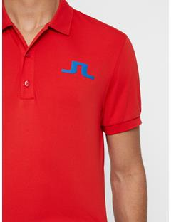 Mens Big Bridge TX Jersey Polo Deep Red