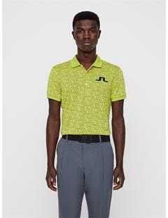 Mens Big Bridge Jaquard Polo JL 96 Yellow