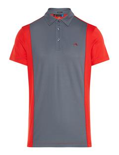 Mens Luke Lux Pique Polo Deep Red