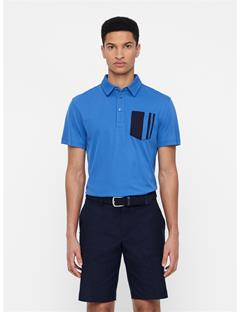 Mens Owen Lux Pique Polo Work Blue