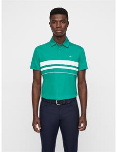 Mens Leo Lux Pique Polo Golf Green