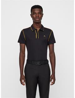 Mens Tomi Lux Pique Polo Black
