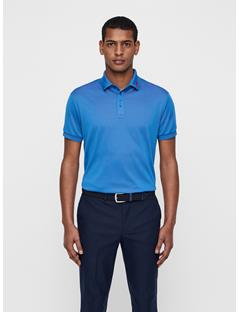 Mens Lux KV TX Jaquard Polo Work Blue