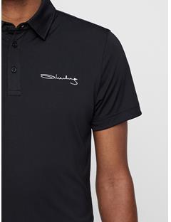 Mens Signature KV Slim TX Jersey Polo Black