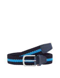 Mens Hades Elastic Striped Belt JL Navy
