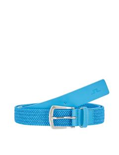 Mens Caspian Elastic Braid Belt Ocean Blue