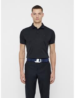 Mens JL Iconic Brushed Leather Belt JL Navy