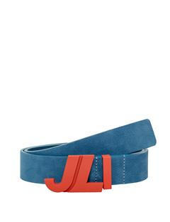 Mens JL Iconic Brushed Leather Belt Work Blue