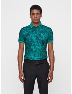 Mens Tour Tech Slim Fit Camou Print Polo Ocean camou F