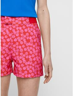 Womens Gilda Shorts Pop Pink Flower Print