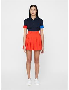 Womens Adina Skirt Deep Red