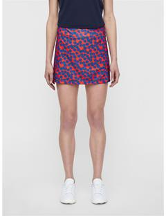Womens Amelie Flower Print Skirt Racing Red Flower Print