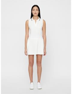Womens Cora High Vent Dress White