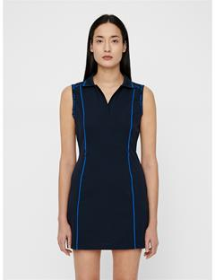 Womens Oda High Vent Dress JL Navy