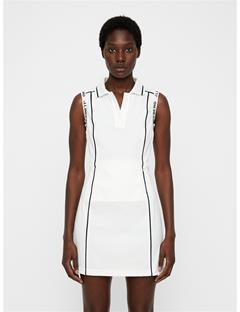 Womens Oda High Vent Dress White