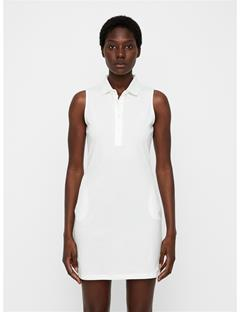Womens Elsi Cotton-Poly Dress White