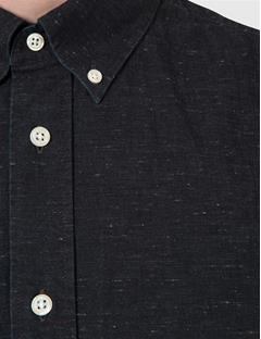 Mens Dani Star Denim Shirt Almost Black