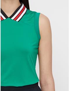 Womens Yuri Compression Polo Golf Green
