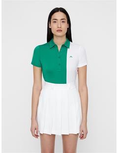 Womens Peka TX Jersey Polo Golf Green