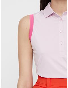 Womens Yvonne Compression Polo Deep Rose