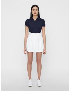 Womens Leana Lux Pique Polo JL Navy