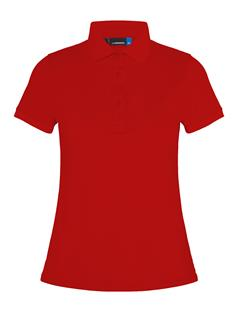Womens Petsy Cotton-Poly Polo Deep Red