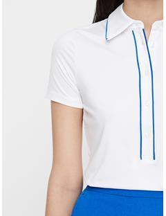Womens Flor Compression Polo White