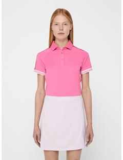 Womens Perinne TX Jersey Polo Pop Pink