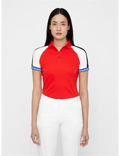 Womens Perinne TX Jersey Polo Racing Red