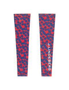 Womens Alva Compression Sleeve Racing Red Flower Print