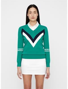 Womens Celine Sweater Golf Green