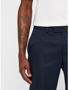 Mens Grant Travel Cotton Pants JL Navy