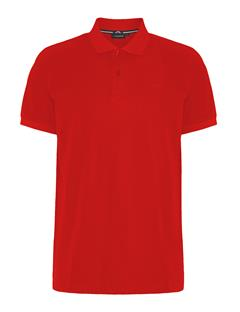 Mens Troy Clean Pique Polo Deep Red