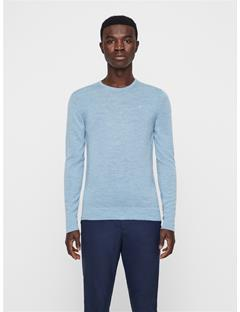 Mens Newman Crewneck Sweater Mid Blue