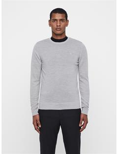 Mens Newman Crewneck Sweater Stone Grey