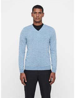 Mens Newman V-Neck Sweater Ice Flow