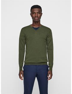 Mens Newman V-Neck Sweater Ivy Green