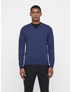 Mens Newman V-Neck Sweater Mid Blue