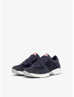 Mens Bump Lamb Suede Sneakers JL Navy