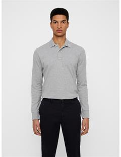 Mens Luke Pique Polo Lt Grey Melange