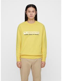 Mens Hurl Ring Loop Sweatshirt Butter Yellow