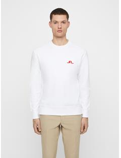Mens Hurl Ring Loop Sweatshirt White