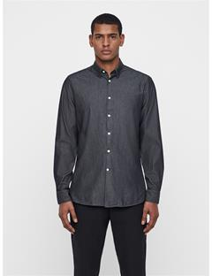 Mens Daniel Washed Indigo Shirt Black